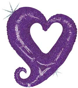 CHAIN OF HEARTS PURPLE (37in)  QTY 5