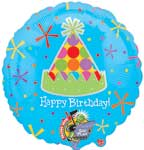 HB-DAY PARTY HAT RECODABLE  (JUMBO) QTY 3