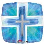 JOYOUS CROSS BLUE VERSES (18in)  QTY 5