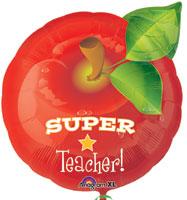 SUPER TEACHER APPLE (18in) QTY 5