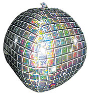 DISCO BALL HOLO   22in QTY 5