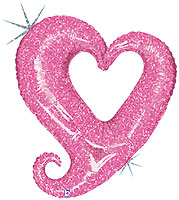 Chain of Hearts Pink (37 IN) QTY 5