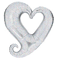 Chain of Hearts Silver (37 IN) QTY 5