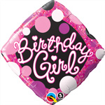 Birthday Girl Pink & Black (QTY 5) 18IN