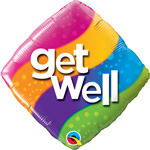 Get Well Curvy Stripes (QTY 5) 18IN