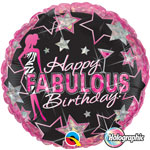 Birthday Fabulous (QTY 5) 18IN