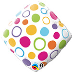 Polka Dots Accent Patterned (QTY 5) 18IN