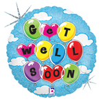Floating Get Well (18in) QTY 5