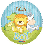 Baby Boy Jungle Animals (18in) QTY  10
