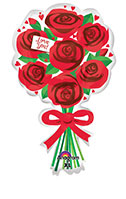 LOVE YOU RED ROSES