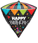 HAPPY BIRTHDAY PARTY TIME STANDARD DIAMOND 17 INCH