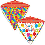 GEOMETRIC BIRTHDAY  STANDARD DIAMOND 17 INCH
