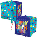 BRIGHT HAPPY BIRTHDAY STANDARD CUBE 15 INCH