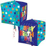 BRIGHT HAPPY BIRTHDAY STANDARD CUBE 15 INCH
