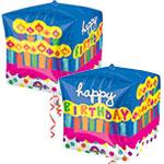 BIRTHDAY CAKE  STANDARD CUBE 15 INCH