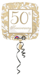 Gold Elegant 50th  (18in) QTY 5
