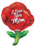 I Love You Mom Red Rose Shape (36in) QTY 5