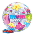 Single Bubble Best Mom Ever (22in) QTY 5