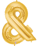 Ampersand (&) Shape Gold (40IN) QTY 1