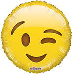 Emoji Smiley Wink (18IN) QTY 10