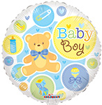BABY BOY  BEAR GELLIBEAN (18IN) QTY 10