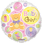 BABY GIRL  BEAR GELLIBEAN (18IN) QTY 10