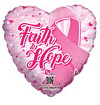 FAITH AND HOPE HEART  (18IN) QTY 10
