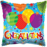CONGRATULATIONS BALLOONS (18IN) QTY 10