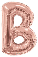 LETTER B ROSE GOLD (34IN) QTY 1