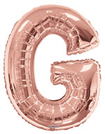 LETTER G ROSE GOLD (34IN) QTY 1