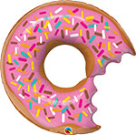 BIT DONUT & SPRINKLES (36IN) QTY 5