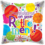 CONGRATLTN ON  RETIREMENT (18IN) QTY 10