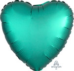 SATIN LUXE JADE HEART (18IN) QTY 10