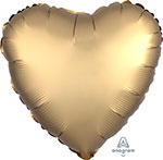 SATIN LUXE GOLD HEART (18IN) QTY 10