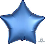 SATIN LUXE AZURE STAR (18IN) QTY 10