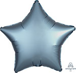 SATIN LUXE STEEL BLUE STAR (18IN) QTY 10