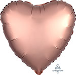 SATIN LUXE ROSE COPPER HEART (18IN) QTY 10