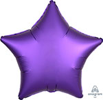 SATIN LUXE PURPLE ROYALE STAR (18IN) QTY 10