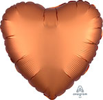 SATIN LUXE AMBER HEART (18IN) QTY 10
