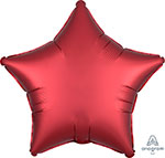 SATIN LUXE SANGRIA STAR (18IN) QTY 10