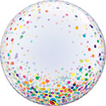 DECO BUBBLE COLORFUL CONFETTI DOTS (20IN) QTY 5