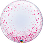DECO BUBBLE PINK CONFETTI DOTS (20IN) QTY 5