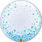DECO BUBBLE BLUE CONFETTI DOTS  (20IN) QTY 5