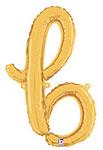SCRIPT LETTER B GOLD (14IN) QTY 1