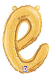 SCRIPT LETTER E GOLD (14IN) QTY 1