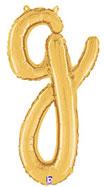 SCRIPT LETTER G GOLD (14IN) QTY 1
