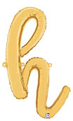 SCRIPT LETTER H GOLD (14IN) QTY 1