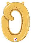SCRIPT LETTER O GOLD (14IN) QTY 1