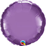 CHROME PURPLE ROUND (18IN) QTY 5