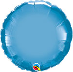 CHROME BLUE ROUND (18IN) QTY 5